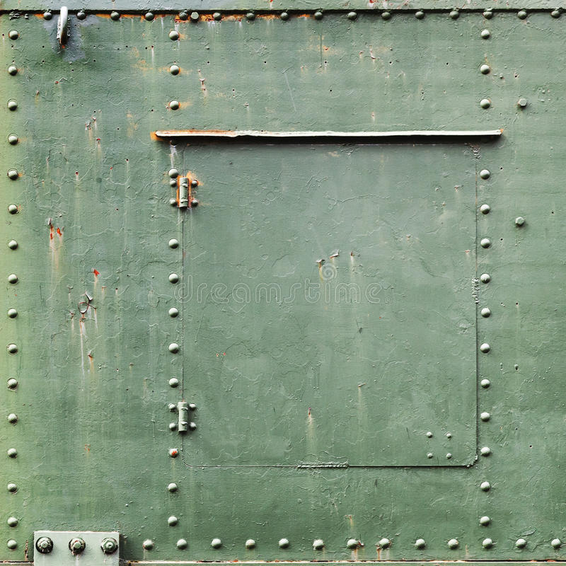 Fundo industrial verde quadrado do metal imagens de stock royalty free