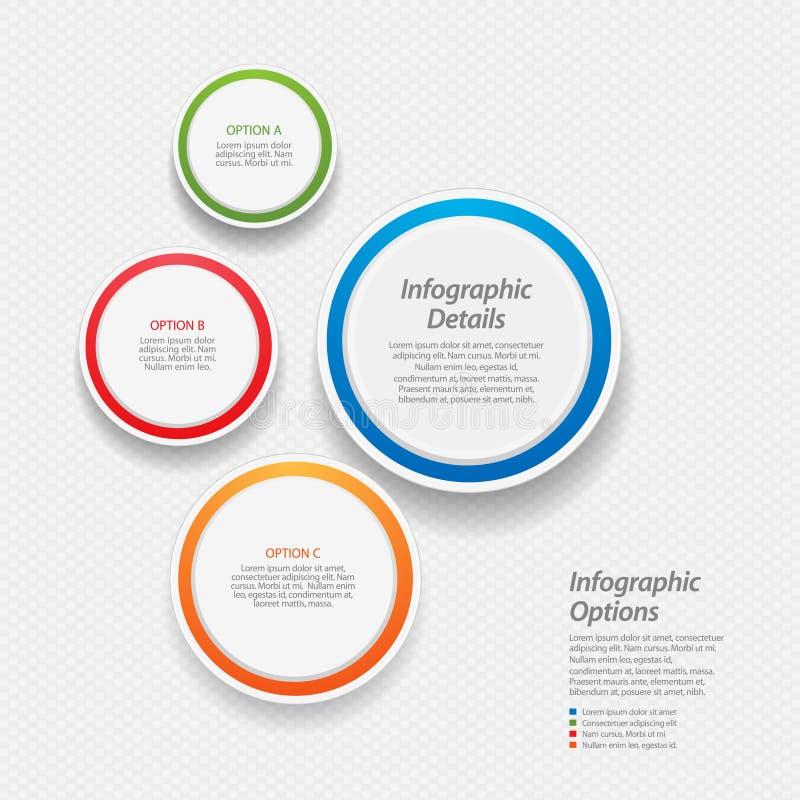 Fundo infographic colorido ilustração stock