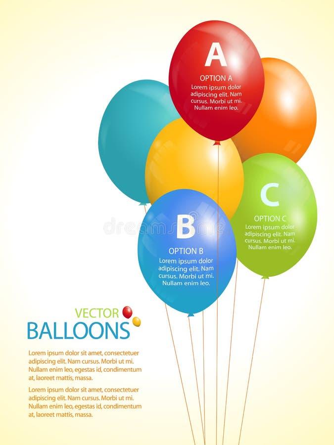 Fundo infographic do balão colorido ilustração do vetor
