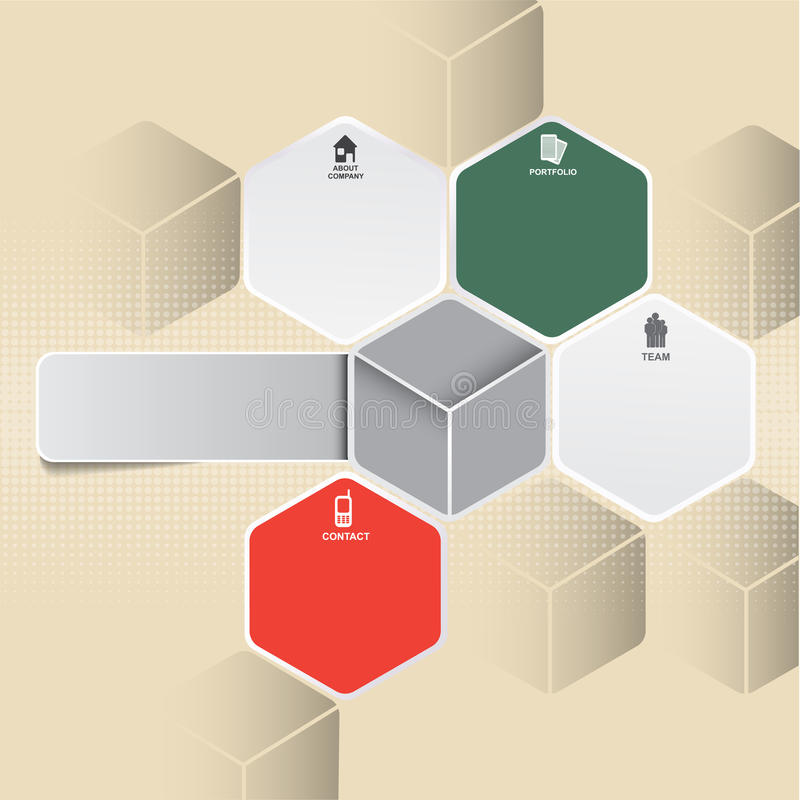 Fundo infographic retro abstrato com ícones ilustração do vetor