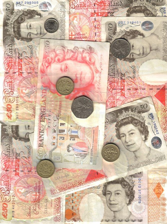 Fundo inglês do dinheiro imagem de stock