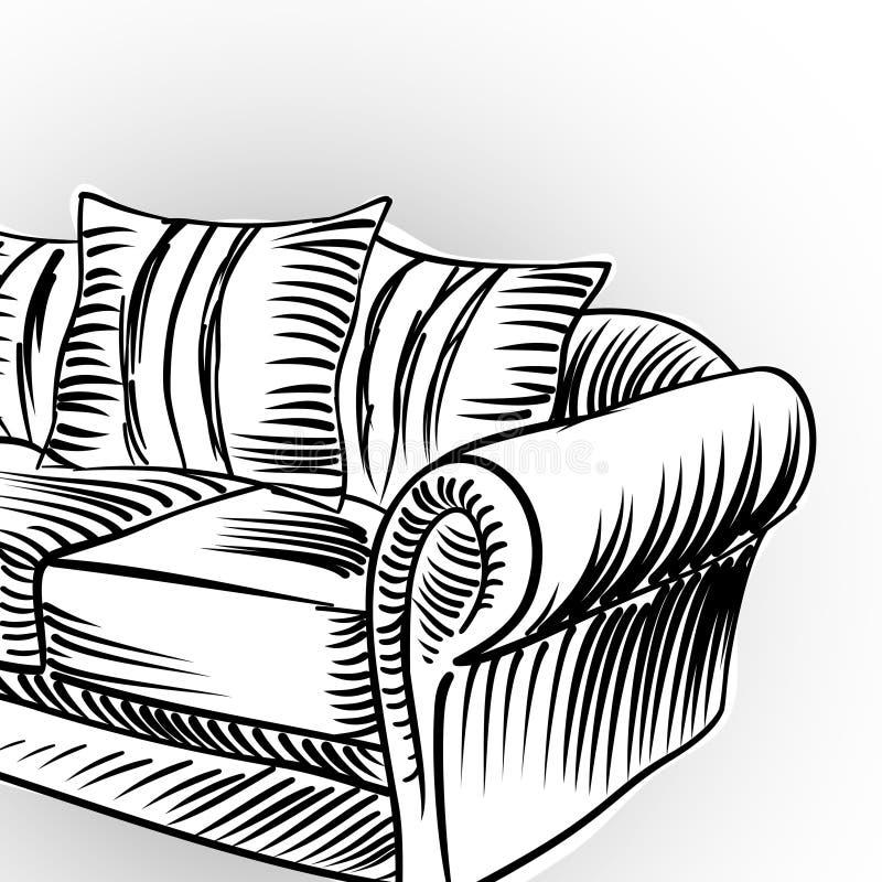 Fundo interior ilustração stock