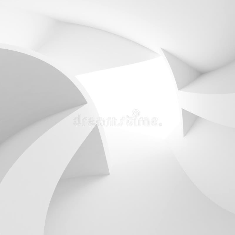 Fundo interior abstrato Quarto branco com indicador ilustração royalty free