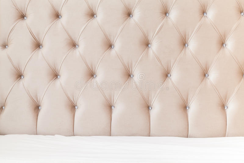 Fundo interior do quarto, cabeceira macia imagem de stock royalty free