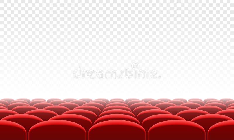 Fundo interior do vetor do salão do assento do citema do filme ilustração royalty free