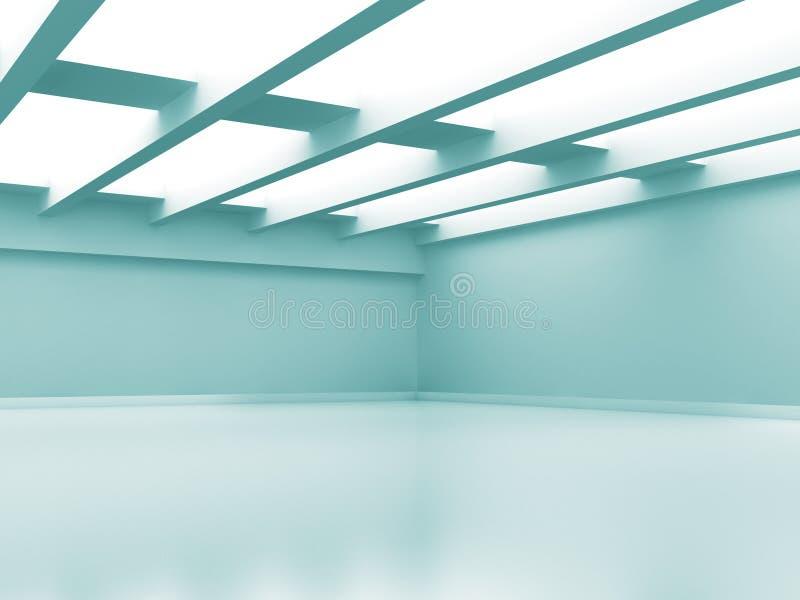 Fundo interior moderno da sala vazia abstrata ilustração do vetor
