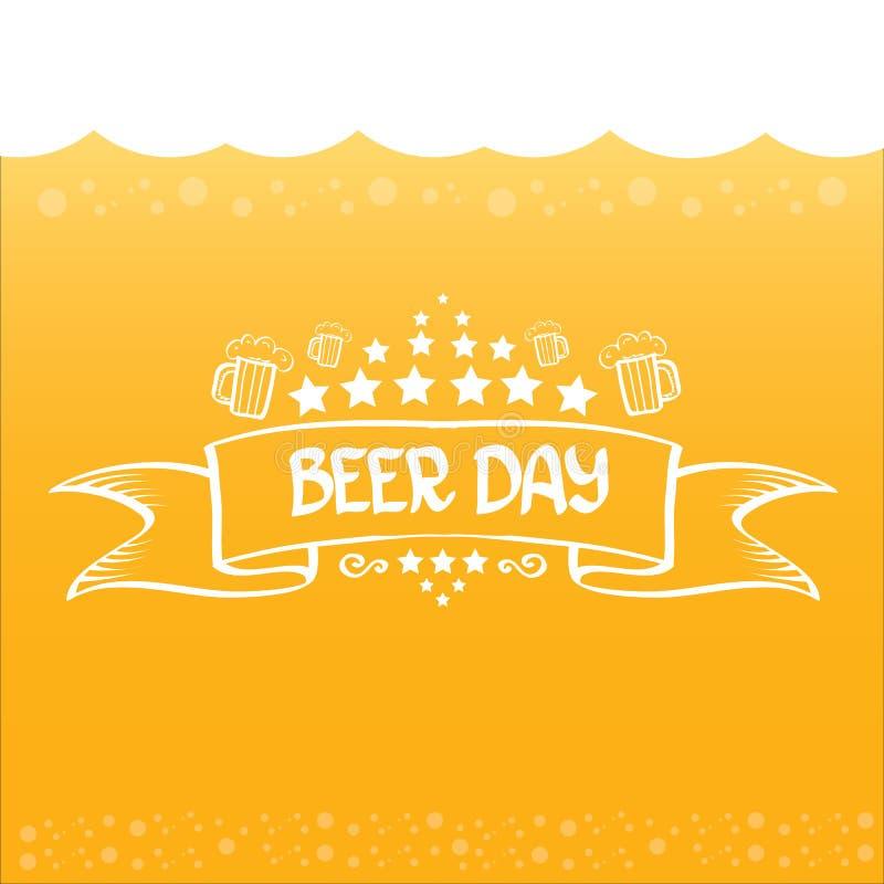 Fundo internacional do vetor do dia da cerveja ilustração do vetor