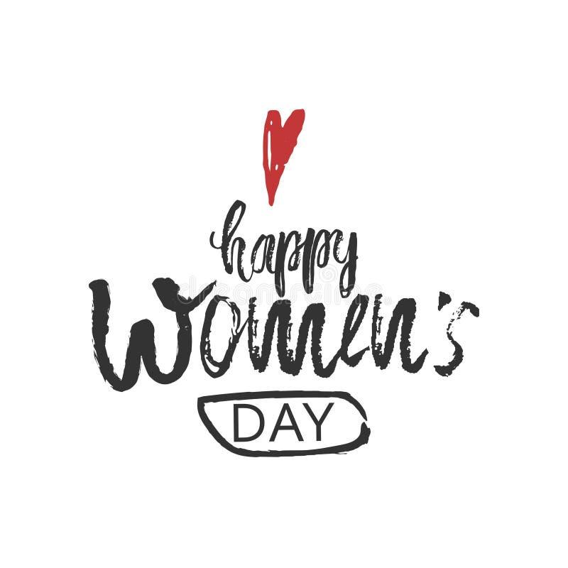 Fundo internacional feliz do projeto do dia das mulheres s o 8 de março Projeto de rotulação 8 de março cartão Molde do fundo par ilustração stock