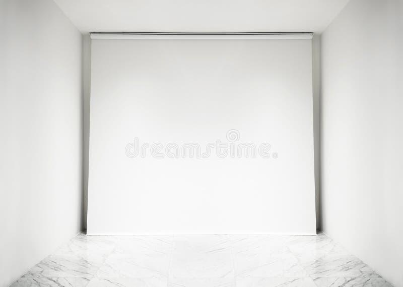 Fundo interno do espaço branco vazio do estúdio da foto imagens de stock royalty free