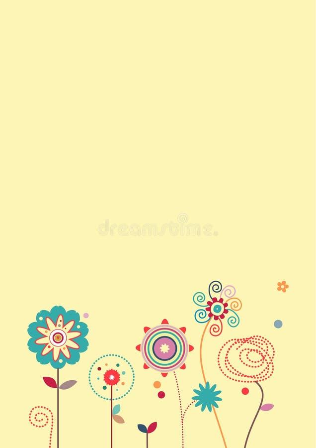 Fundo irrisório das flores ilustração royalty free