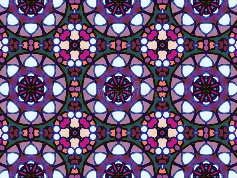 Fundo islâmico árabe tradicional Elemento da decoração da mesquita ilustração stock