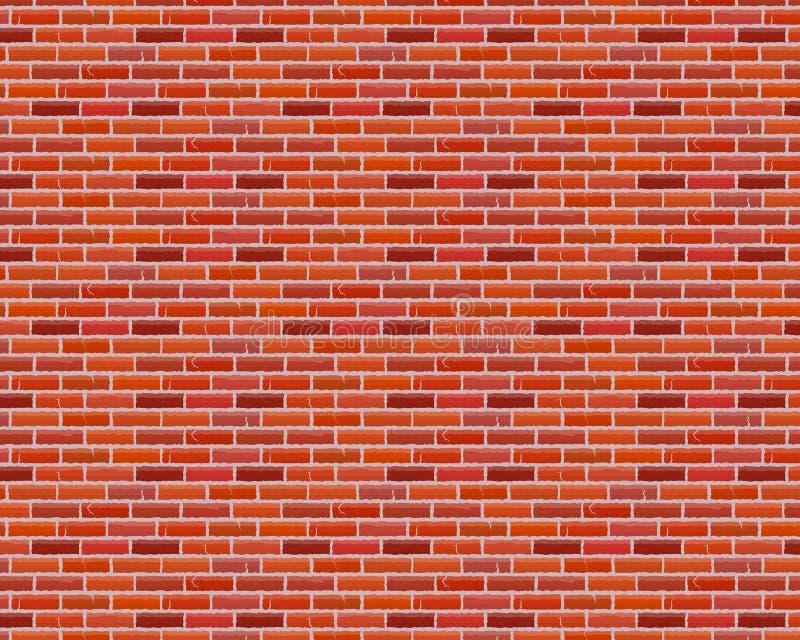 Fundo isolado da parede do tijolo teste padrão marrom sem emenda Ilustração do vetor ilustração do vetor