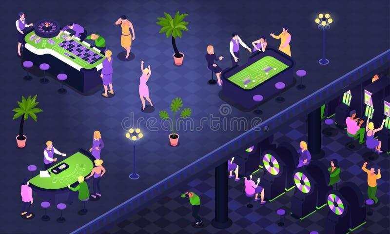Fundo isométrico do casino ilustração do vetor