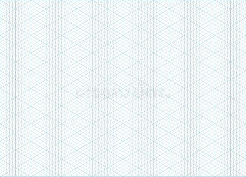 Fundo isométrico do papel de gráfico da grade ilustração stock