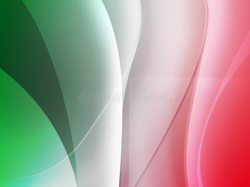 Fundo italiano do Mac da bandeira ilustração stock