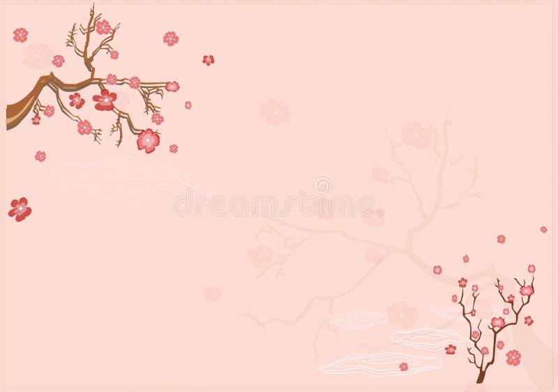 Fundo japonês com Sacur ilustração royalty free