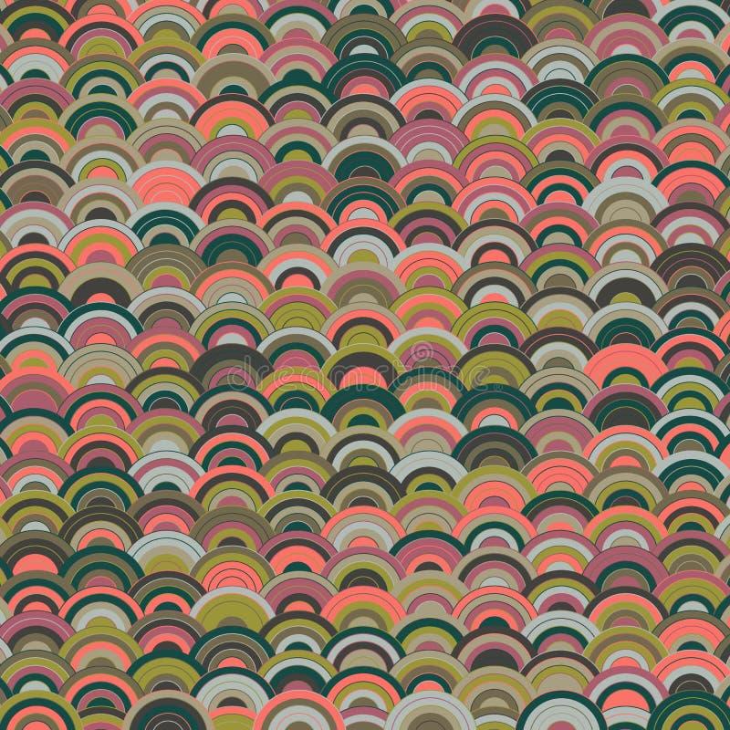 Fundo japonês da onda para o projeto decorativo cores suculentas brilhantes, coloridas, ondas coloridas, projeto bonito para ilustração do vetor