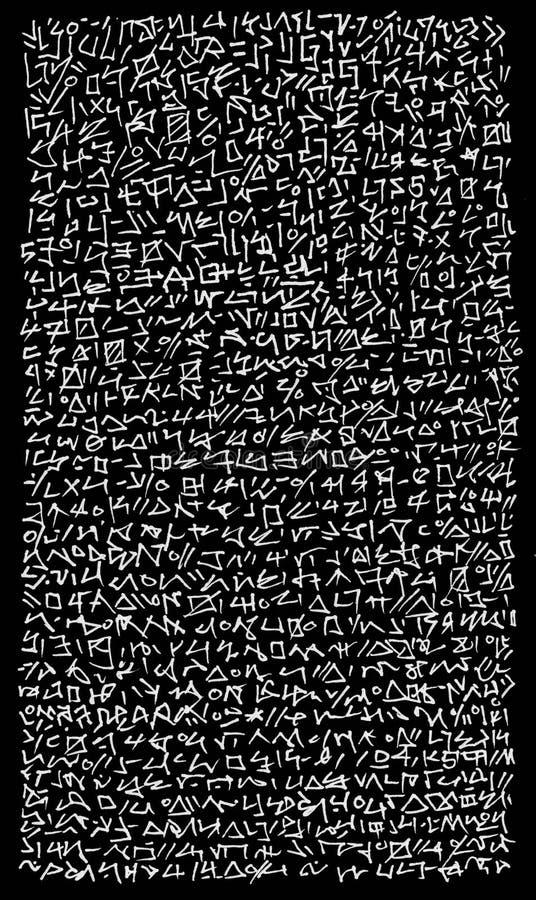 Fundo jeroglífico estrangeiro abstrato da cifragem ilustração royalty free