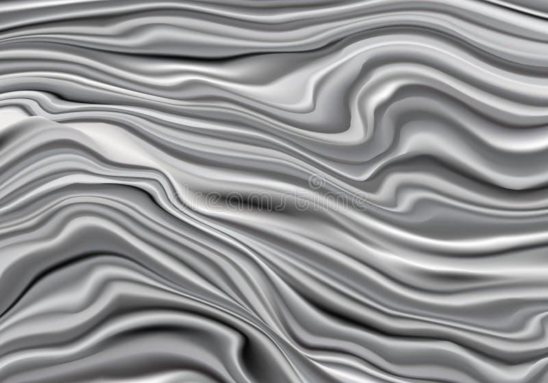 Fundo líquido abstrato do fluxo da cor do metal ilustração do vetor