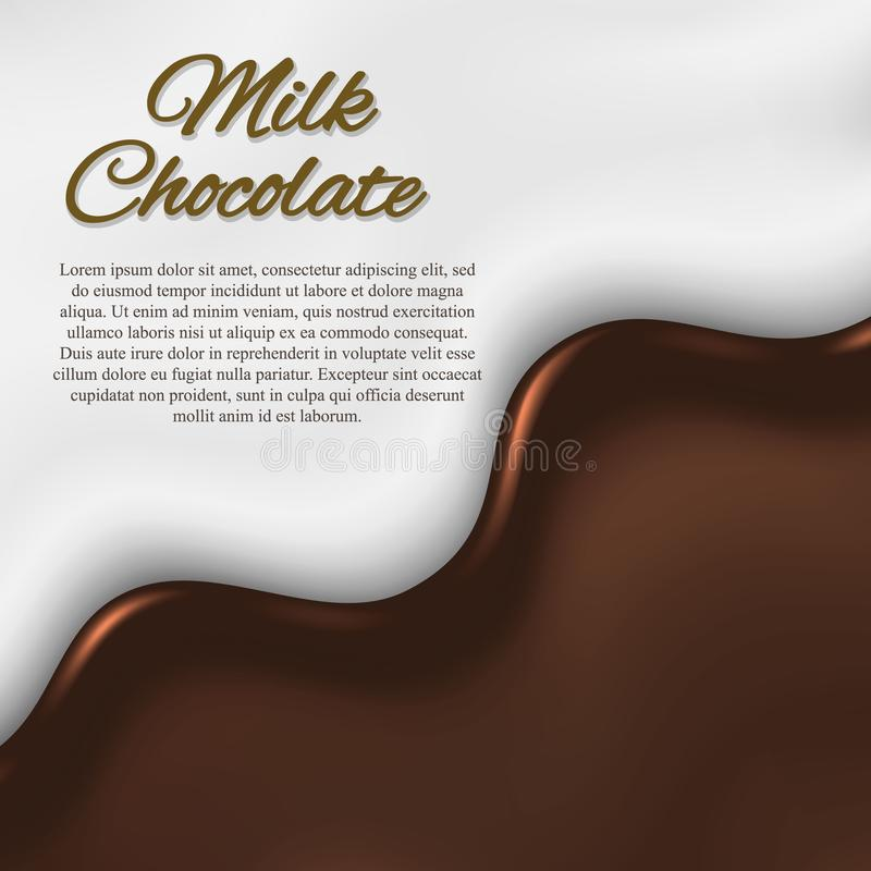 Fundo líquido do chocolate ilustração stock