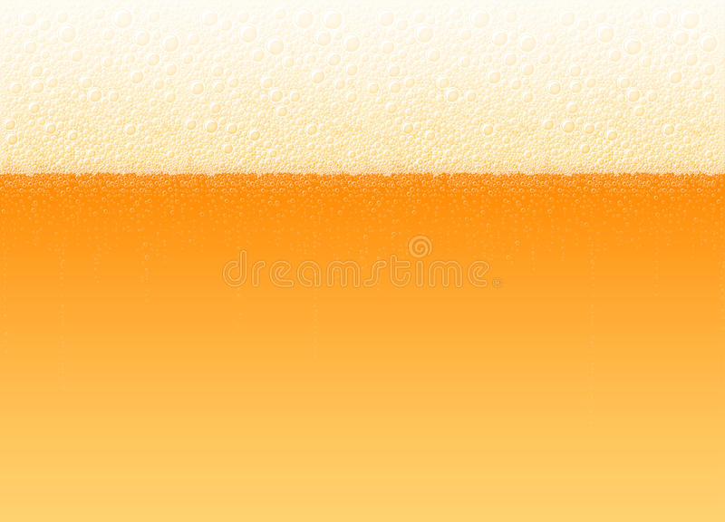 Fundo Lager Light Bitter Drink realístico das bolhas da espuma da cerveja ilustração stock