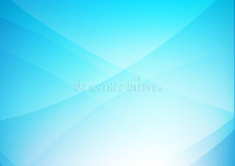 Fundo limpo azul abstrato com simplesmente os elemen da iluminação da curva ilustração stock