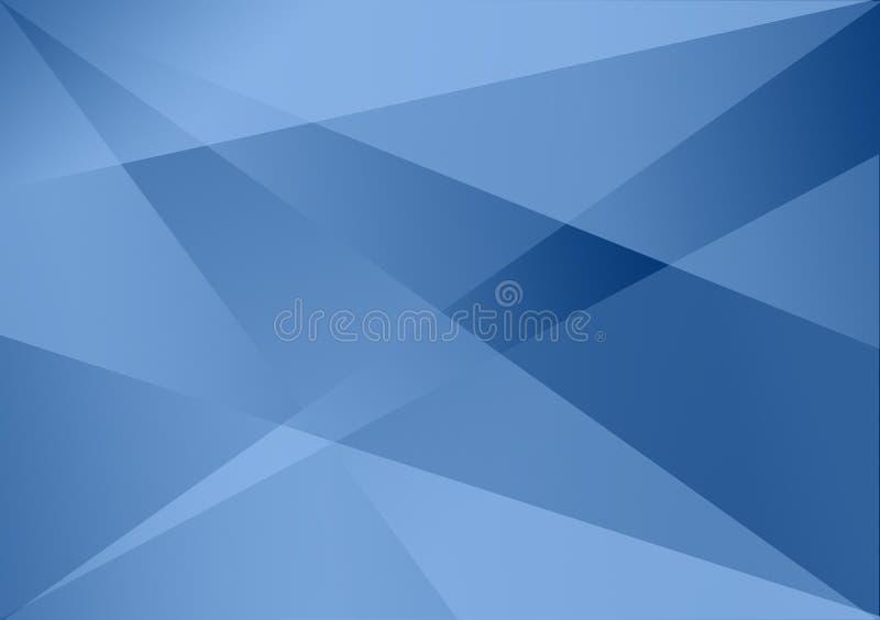 Fundo linear azul do inclinação do fundo da forma ilustração stock