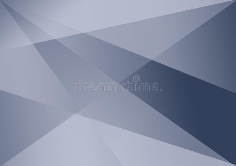 Fundo linear azul do inclinação do fundo da forma ilustração do vetor