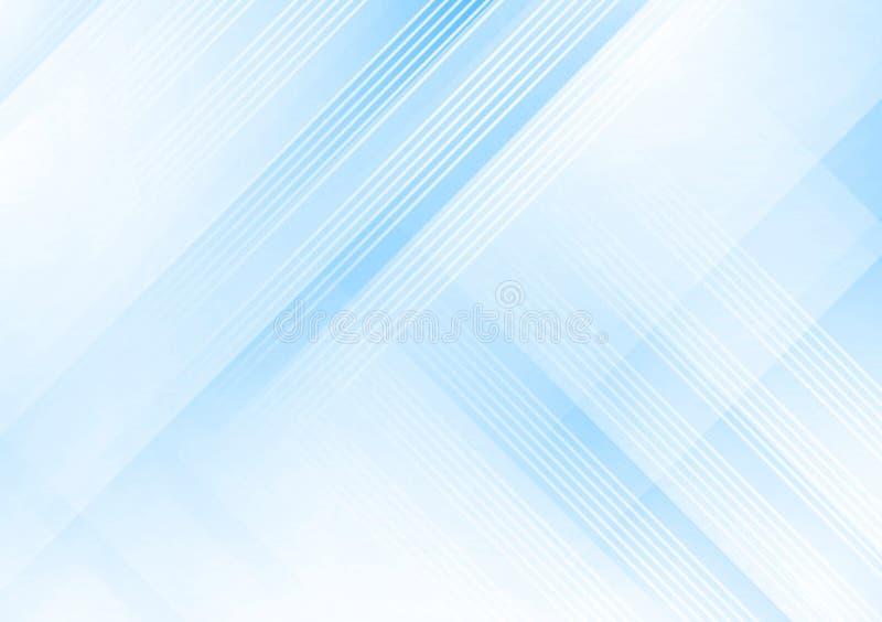 Fundo linear azul do inclina??o do fundo da forma ilustração stock