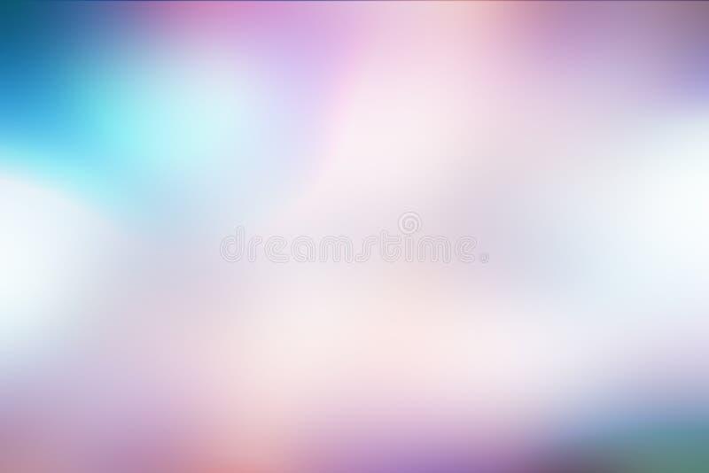 Fundo linear do borrão azul fundo abstrato para o webdesign, fundo colorido do borrão, borrado, papel de parede Sumário Defocused ilustração do vetor