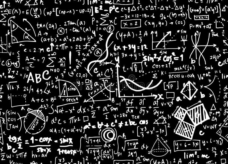 Fundo linear do círculo da educação da matemática da matemática com geometr ilustração do vetor