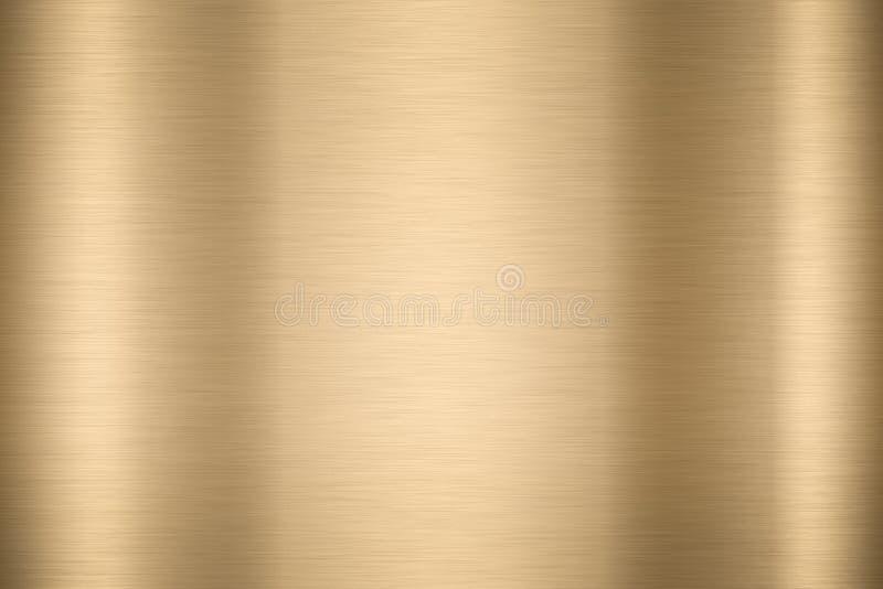Fundo liso brilhante abstrato vi brilhante da cor do ouro do metal da folha fotografia de stock royalty free