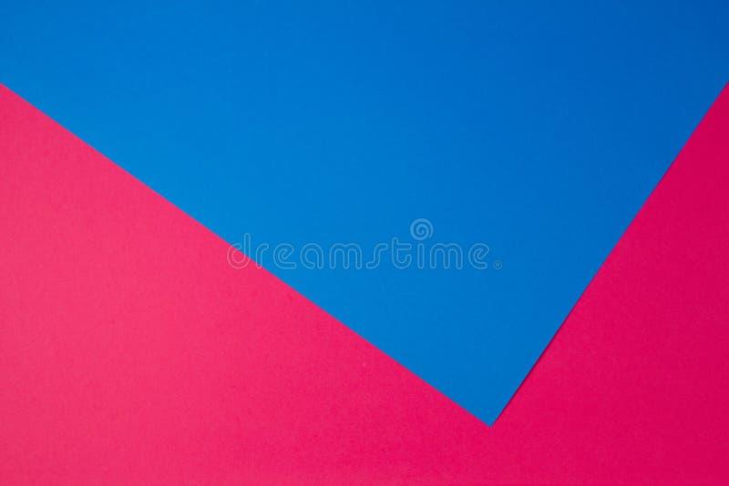 Fundo liso da composição da geometria colorida dos papéis foto de stock royalty free