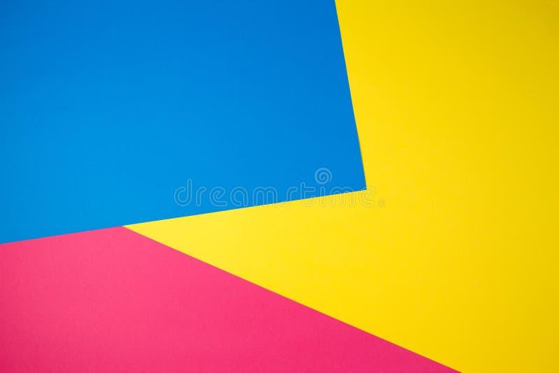 Fundo liso da composição da geometria colorida dos papéis fotos de stock royalty free