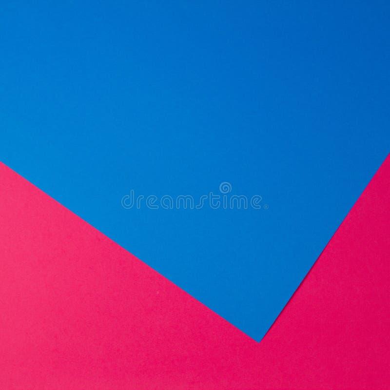 Fundo liso da composição da geometria colorida dos papéis imagem de stock