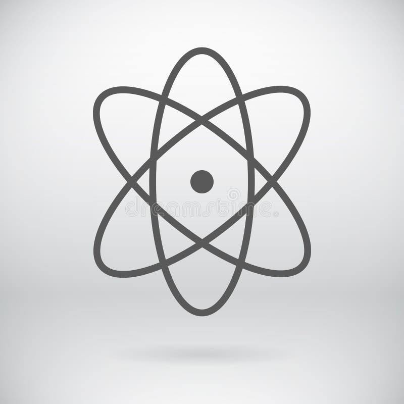 Fundo liso de Atom Sign Vetora Chemistry Symbol ilustração do vetor