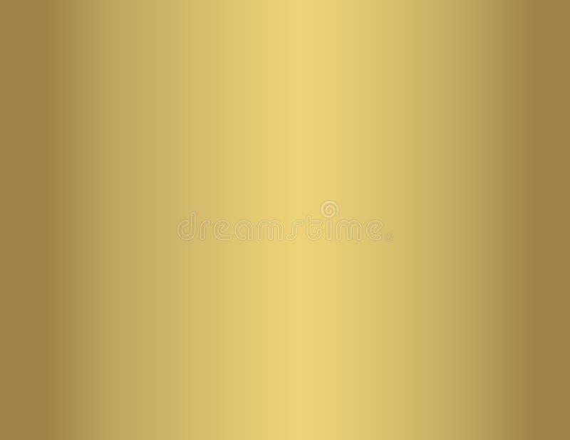 Fundo liso do metal do brilho do ouro ilustração do vetor