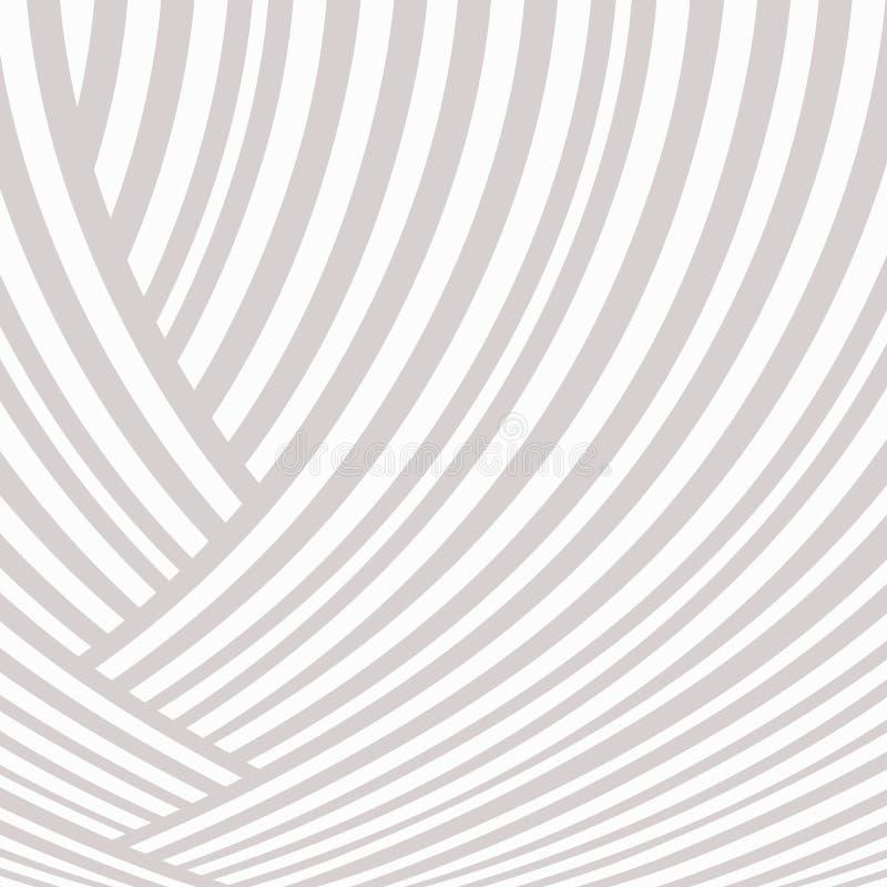 Fundo listrado abstrato Branco e claro - teste padrão cinzento da curva da trança Linhas de ascensão ilustração royalty free
