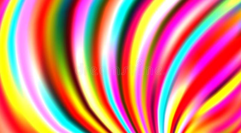 Fundo listrado colorido brilhante com listras multicoloridos Teste padrão do vetor ilustração stock