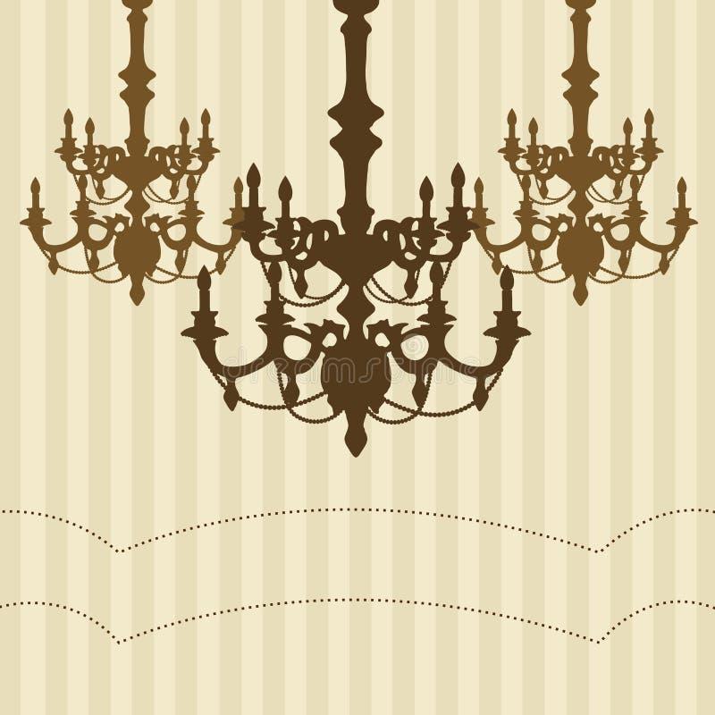 Fundo listrado do candelabro. ilustração royalty free