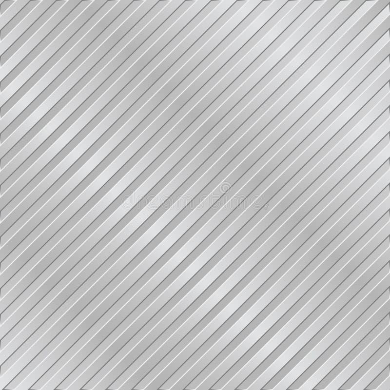 Fundo listrado do metal de prata ilustração stock