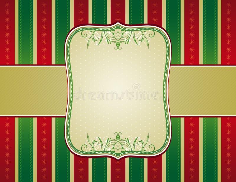 Fundo listrado do Natal,   ilustração stock