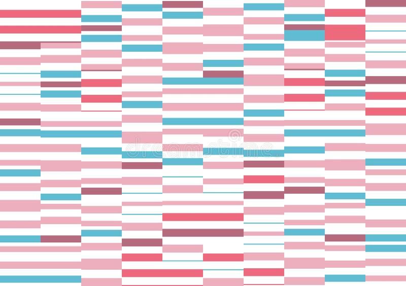 Fundo listrado horizontal geométrico Teste padrão sem emenda Papel de parede à moda moderno ilustração royalty free