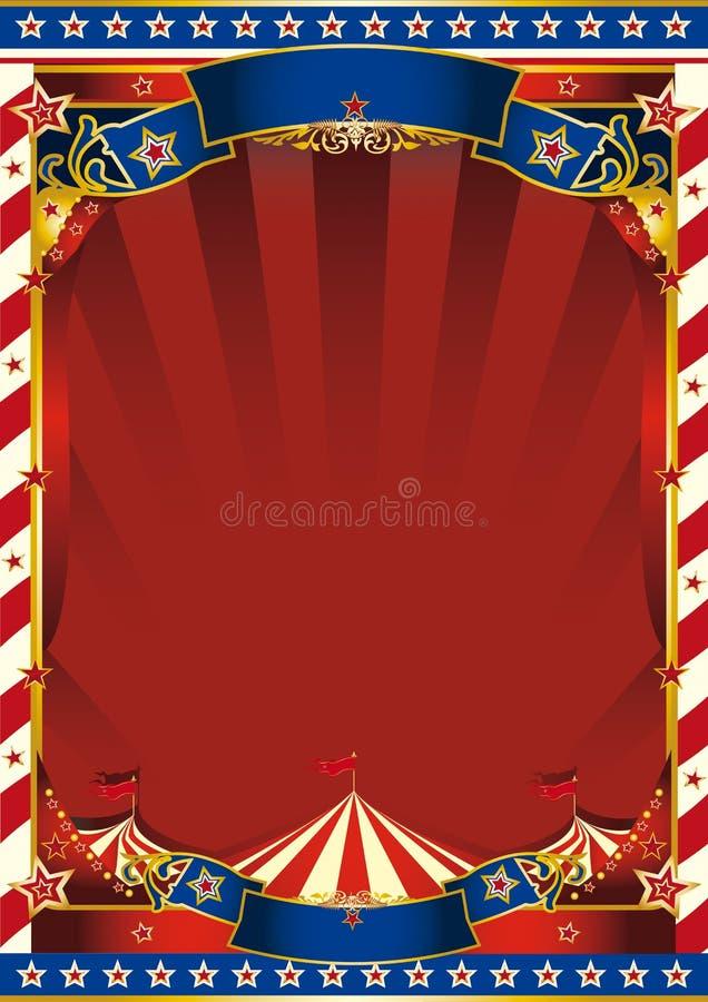 Fundo listrado velho americano do circo ilustração do vetor