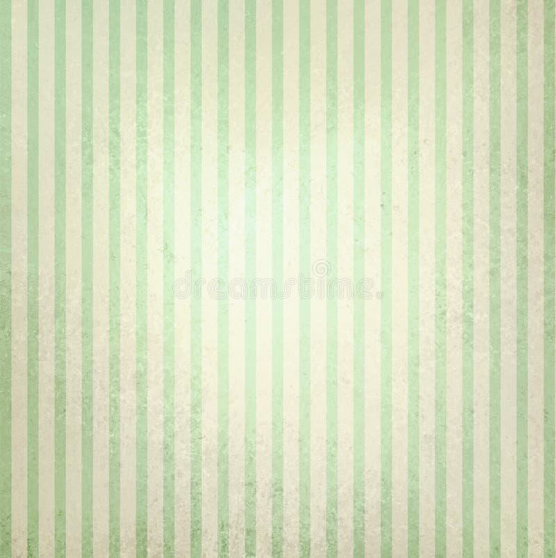 Fundo listrado verde do vintage e bege pastel fotografia de stock royalty free