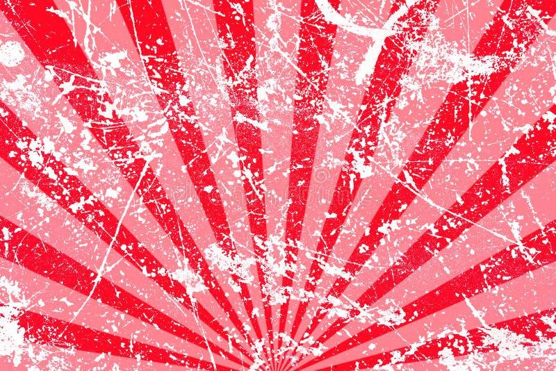 Fundo listrado vermelho sujo ilustração stock