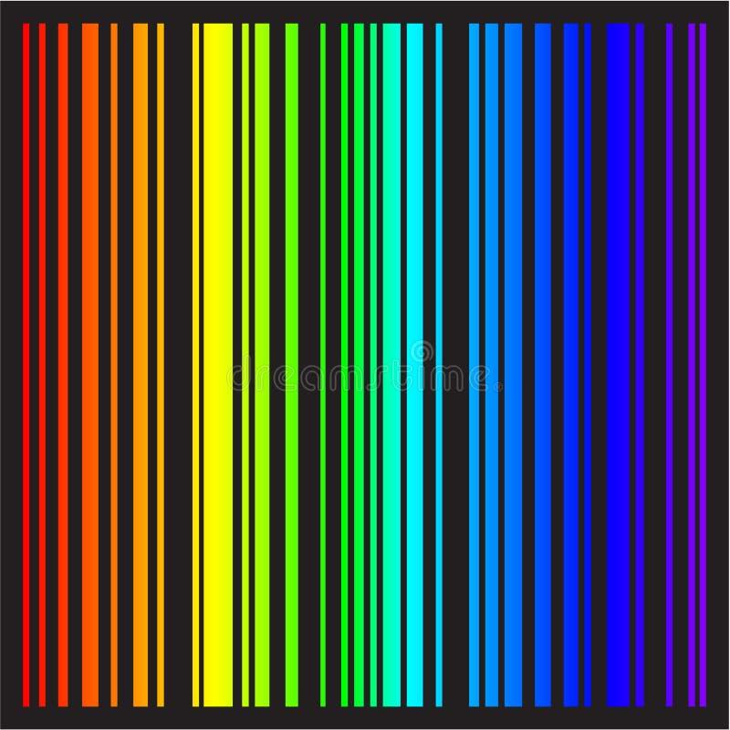 Fundo - listras do vetor em cores do arco-íris ilustração do vetor