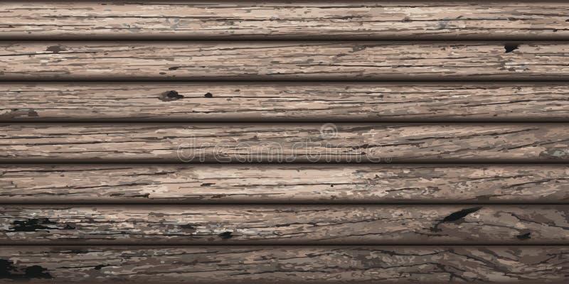 Fundo longo da textura da prancha de madeira Madeira velha ilustração royalty free