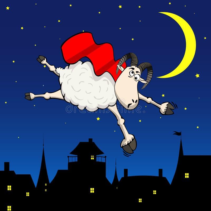 Fundo louco dos carneiros ilustração royalty free
