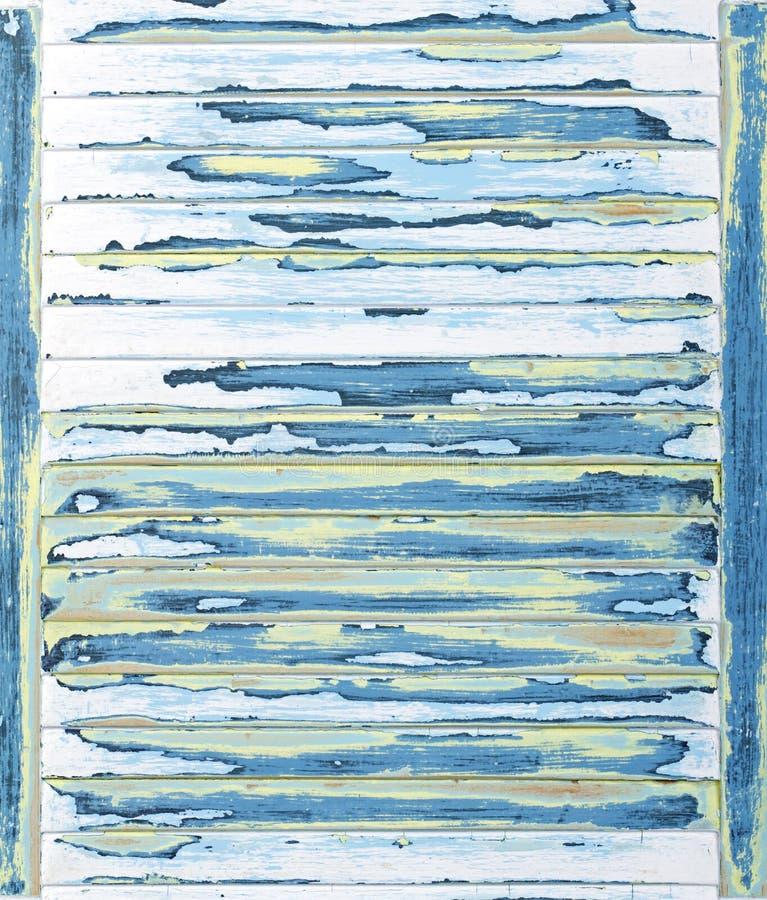 Fundo Louvered, textured, lixado do grunge da pintura fotografia de stock royalty free